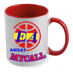 Taza de cerámica AMSAT-EA