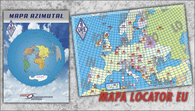 Mapas azimutal y locator EU